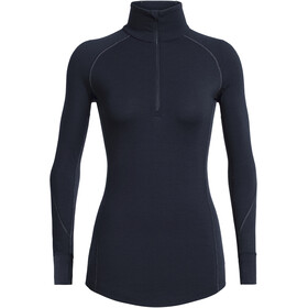 Icebreaker 260 Zone LS Half Zip Shirt Dame midnight navy